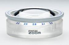 Aufsetzlupe menas ZOOM [Eschenbach 14388] 2,2x bis 3,4x Vergrößerung, 65 mm Ø