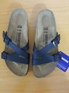 Birkenstock Yao Balance Birko-Flor Black Sandal - NEW - Choose Size