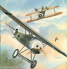 "Model Airplane Plans (RC): Fokker D-VIII 'Flying Razor' 56""ws for .19 engine"