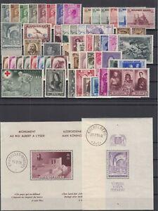 AU5516/ BELGIUM – 1932 / 1939 MINT SEMI MODERN LOT – CV 330 $