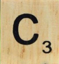 INDIVIDUAL WOOD SCRABBLE TILES! 8 FOR $2, THEN 25 CENTS PER TILE. LETTER C