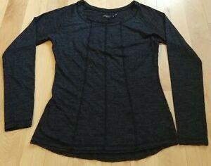 Prana Woman's Athletic Casual Long Sleeve Dark Gray Shirt Size S