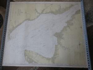 GIANT 1916 U.S.C. & G.S. N.J. MAP 1218 N.J - Del Delaware Bay