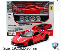 Maisto 1:24 Ferrari 488 Pista Assembly DIY Racing Car Diecast MODEL KITS IN BOX