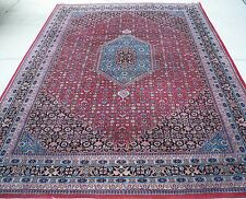 "Oriental hand made wool rug, 9' 11"" X 6'  8"" feet"
