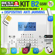 ANTIFURTO KIT B2 ALLARME CASA COMBINATORE GSM PIR WIRELESS - ANTIJAMMING