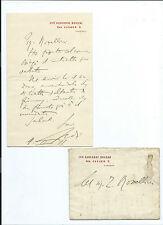 Lettera Autografa Politico Avvocato Giovanni Rosadi Monumento Foscolo Firenze