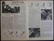 Whirling Dunn TROUT FLY Tying 1949 How-To INFO +Streamer