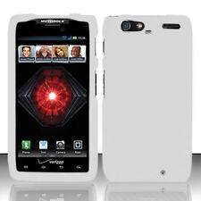 White Motorola DROID RAZR MAXX XT913 Faceplate Snap-on Phone Hard Cover Case