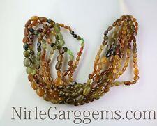 Natural Petrol Tourmaline Oval Shape gemstone beads 8'' Inch AAA