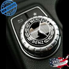 Mercedes Logo Emblem Sticker Black Multimedia Center Control Decal Decoration Sm