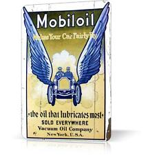 METAL TIN SIGN MOBILOIL MAKES YOU CAR FLY RUSTED Vintage Retro Decor GARAGE WALL