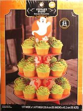 WILTON CUPCAKE STAND Ghost Party Decoration Baking Cake Cardboard Serving NEW
