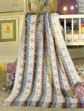 LOVELY Rainbow Stripes Baby Afghan/Crochet Pattern INSTRUCTIONS ONLY