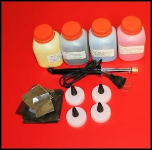 4 color toner refill Kit with chips & hole making tool for HP CM1415fnw CP1525nw