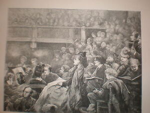 A Monday Popular Concert 1872 print H Woods