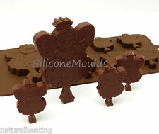 6+1 FAIRY FAIRIES GIRLS Chocolate Silicone Bakeware Mould Candy Cake Mold Tin