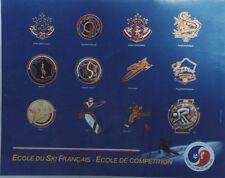 """""""ECOLE DU SKI FRANCAIS"""" Affiche originale entoilée années 80  K.L. 64x52cm"""