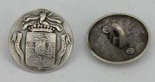 "8 Metallknöpfe Knöpfe Trachten 20mm altsilber ""Wappen"" 07.20b"