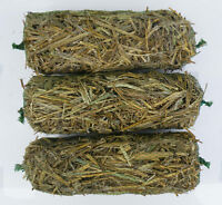 3x Barley-Straw Logs  for  Safe Natural Control of Algae & Blanketweed in Ponds