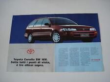advertising Pubblicità 1993 TOYOTA COROLLA SW 16V