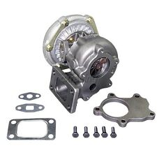 CXRacing T3 T04E Turbocharger .60 A/R Turbo Charge + 5 Bolts Downpipe Flange