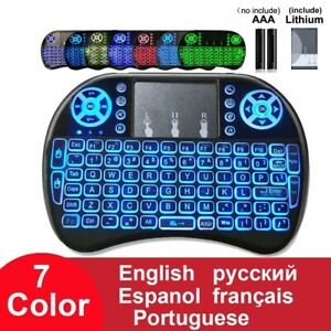 Wireless Keyboard Backlit 2.4GHz Air Mouse Remote Touchpad For Android TV Box PC