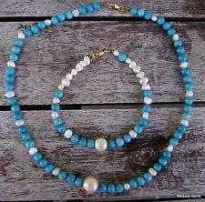 Handmade Turquoise Gemstone Costume Jewellery Sets