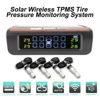 AN-06 Wireless Solar Auto Reifendruckkontrollsystem TPMS + 4 Intern Sensoren