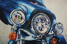 "Harley-Davidson Wall Poster Collectible Art ""daytona Blue"" #102 Hintz"