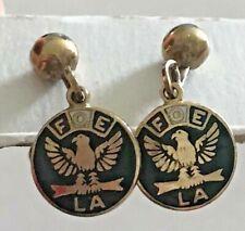 Vintage FOE LA Eagles Screw Back Dangle Earrings