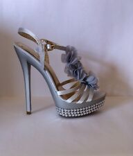 Argento floral and diamante detailed heels, UK size 5