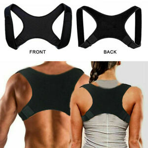 Posture Corrector Body Brace Bad Back Lumbar Shoulder Support Belt Women Men UK