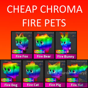 Murder Mystery 2 MM2 Chroma Pet Bundle Roblox *FAST DELIVERY* Read Description