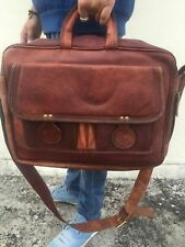 Men's Shoulder Bag Business Brown Leather Briefcase Handbag Messenger Laptop