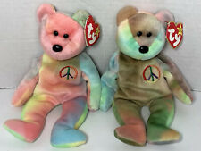 TWO PEACE Beanie Babies 1996 RARE P.E. Retired SEE Patterns *10% to EDS* ERRORS