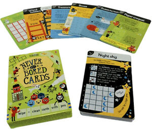 Usborne Never Get Bored Cards (Card Deck w/ wipe clean pen) FREE shipping $35