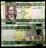 South Sudan 1 Pound 1980 Banknote World Paper Money UNC Currency Bill Note