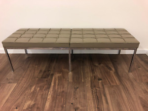 Florence Knoll Leather Bench Seat