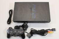 Sony PS2 SCPH-18000 Black Fat Console Cont AC AV Bundle Japan Import 2PC078