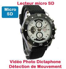 Montre Mini Caméra Espion 720p lecteur micro SD Vision Nocturne auto Cyber