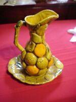 Vintage Inarco2 Piece Orange Spice FruitPitcher and Plate