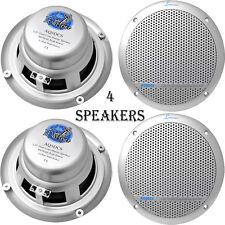 "LOT OF (4) Lanzar AQ5DCS 300 W 5.25"" Dual Cone Marine Speakers - Silver Color"