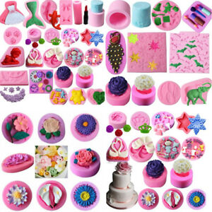 3D Silicone Cake Decoration Molds For Fondant Chocolate Sugarcraft Candy Mould