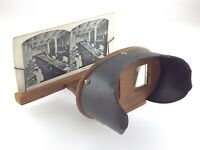 Vintage Stereoscope 3D Photo Card Viewer Wood T142