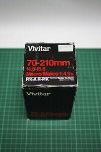 Vivitar 70-210mm f4.5-f5.6 Macro Pentax PKA Fit, Mint, Boxed, Fast UK Delivery