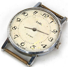 ZARYA Zaria Russian Watch USSR vtg old retro 17 Jewels not working AS IS parts