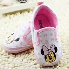 Cute Baby Girl Minnie Mouse Hot Pink & White Canvas Summer Pre Walker Shoes