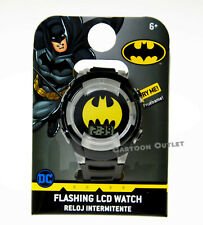 BATMAN WATCH KIDS BOYS DIGITAL WRISTWATCH FLASHING LIGHTS RELOJ NEW DC COMICS