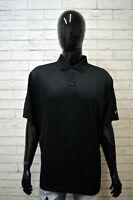 Polo Nera NIKE Uomo Taglia XL Maglia Sportiva Camicia Shirt Man Herrenhemd Black